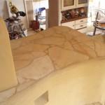 10 Natursteinplatten Liegefläche